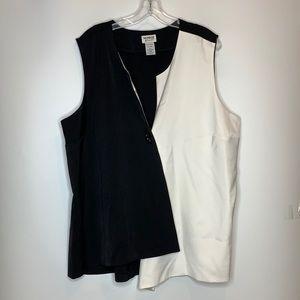 Monroe & Main Asymmetrical Vest 24W PLUS SIZE